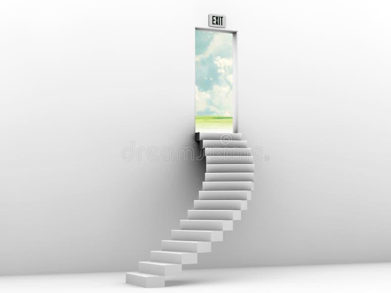 niebiański schody ilustracja wektor