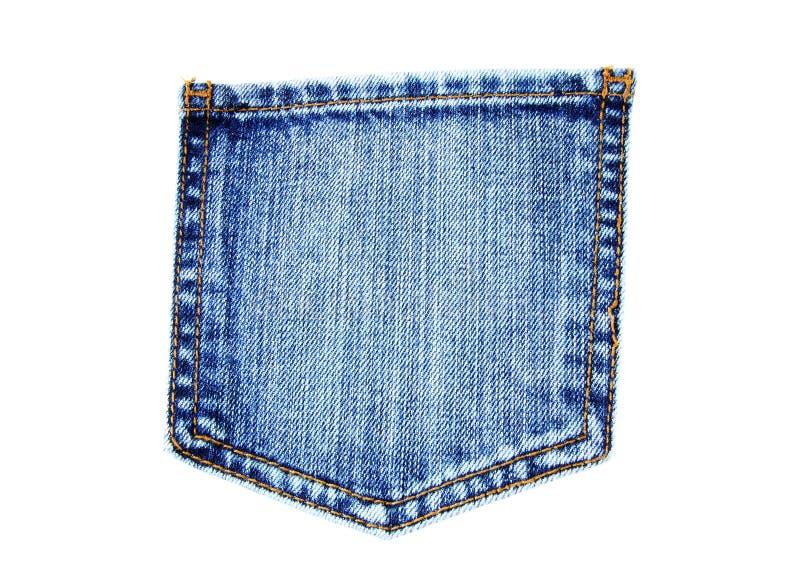 niebiescy dżinsy kieszeń zdjęcia stock