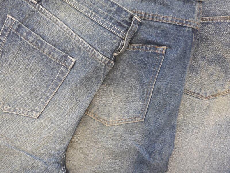 Niebiescy dżinsy trzy spodnia fotografia royalty free
