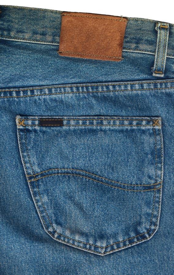 Niebiescy Dżinsy Wkładać do kieszeni zbliżenie zdjęcia stock
