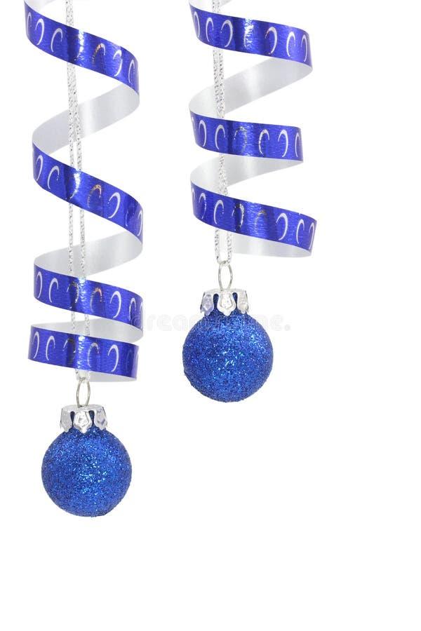 niebieska świątecznej dekoracji obraz royalty free