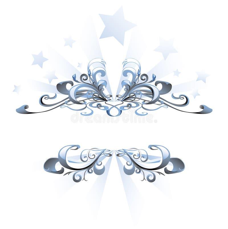 niebieska abstrakcyjna rama ilustracja wektor