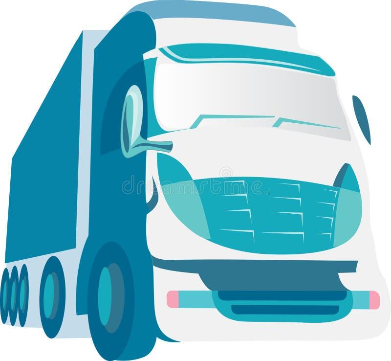 niebieska ciężarówka ilustracji