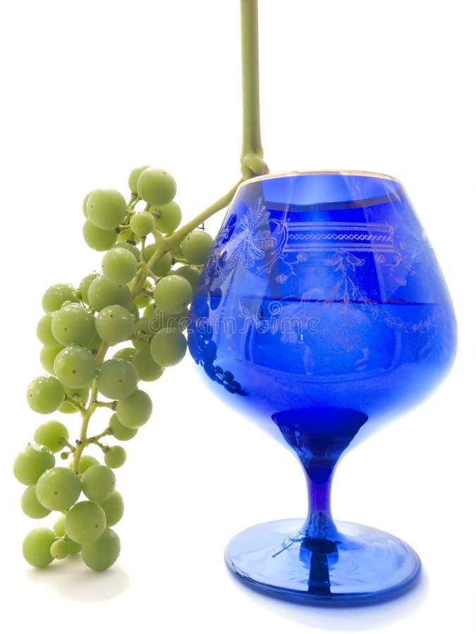 niebieska ciemnej gla green winogron. obrazy royalty free