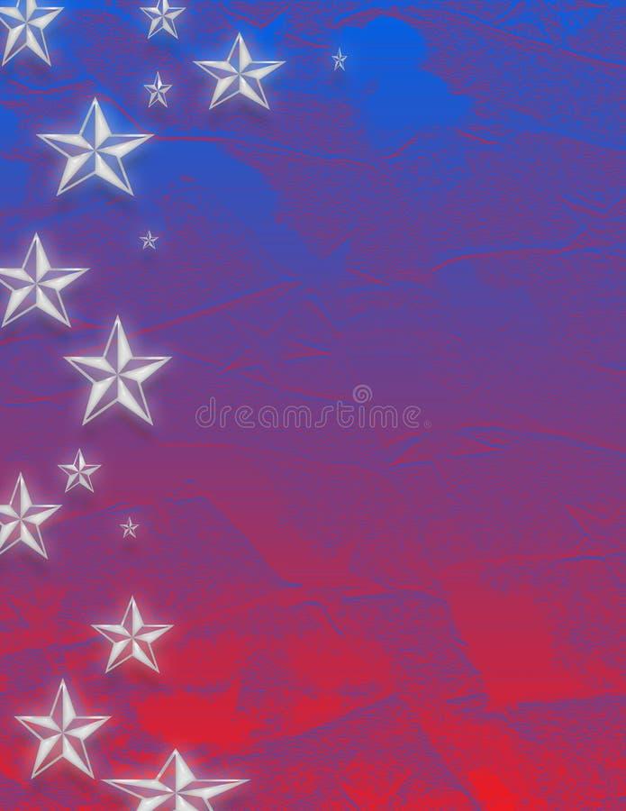 niebieska czerwone white star ilustracja wektor