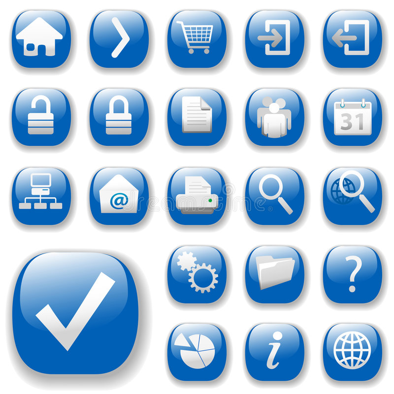 niebieska dropshadows ikon sieci