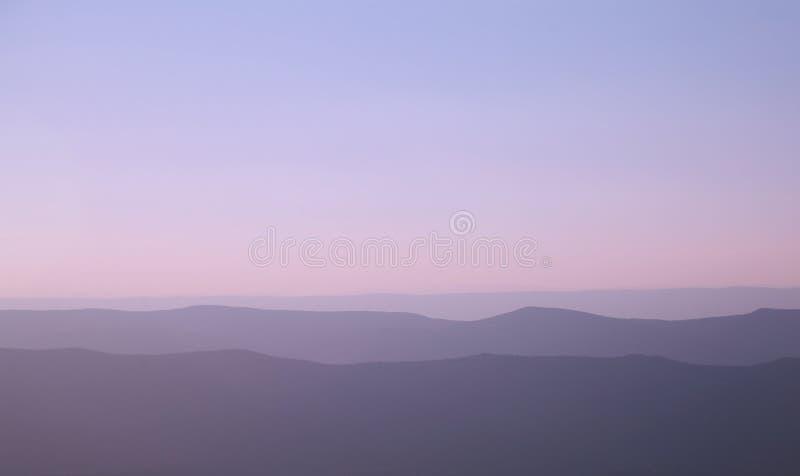 niebieska góry ridge zdjęcie royalty free