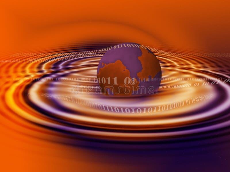 niebieska galaktyki cyfrowej pomarańcze ilustracja wektor