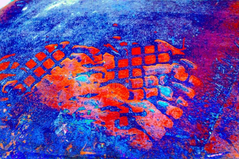 niebieska grunge czerwony royalty ilustracja