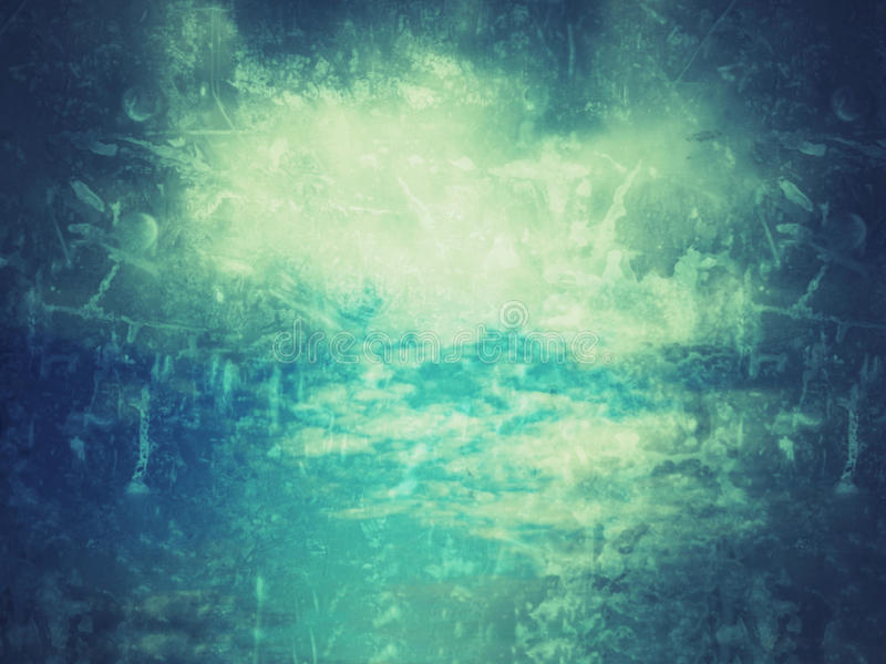 niebieska grunge konsystencja Niebo z chmurami i starą teksturą fotografia stock