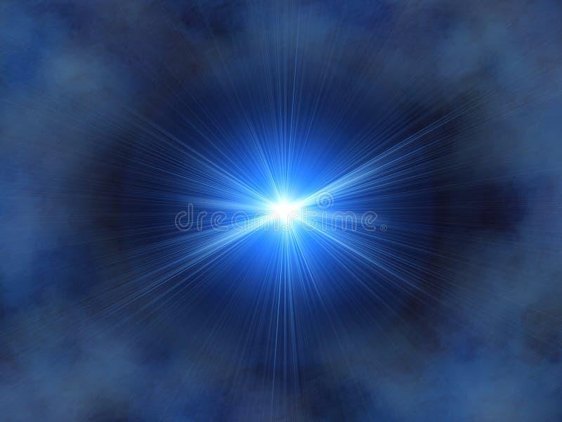 niebieska gwiazda royalty ilustracja