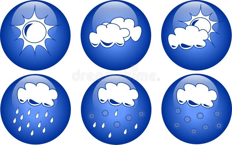 niebieska ikony pogoda ilustracja wektor