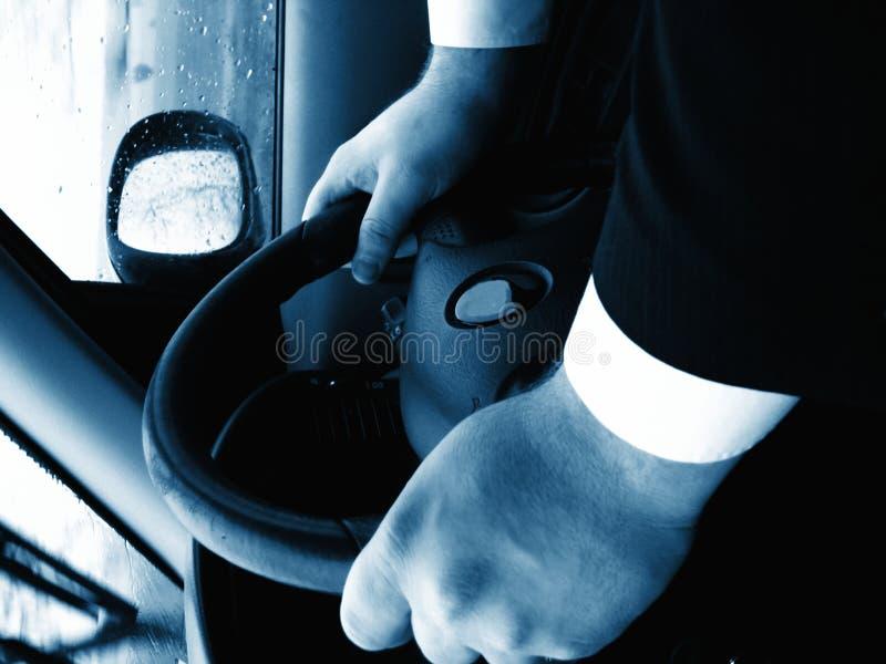 niebieska kierownicy zdjęcie royalty free