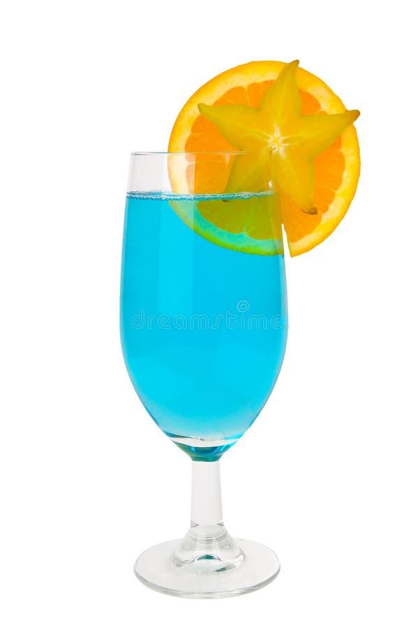 niebieska koktajl owoców krzykliwa fotografia stock