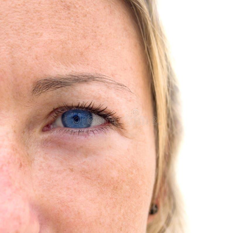 Download Niebieska Kolorowa Kobieta Jest Oko Twarzy Zdjęcie Stock - Obraz: 1334288