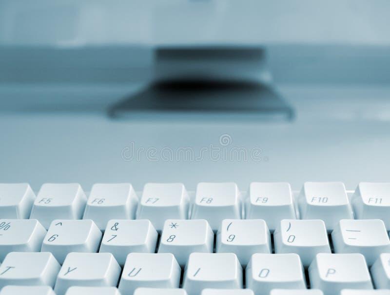 niebieska komputerowa klawiatura zdjęcie stock