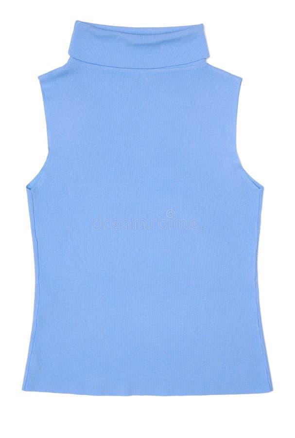niebieska koszula, bez rękawów kobiety światła fotografia royalty free