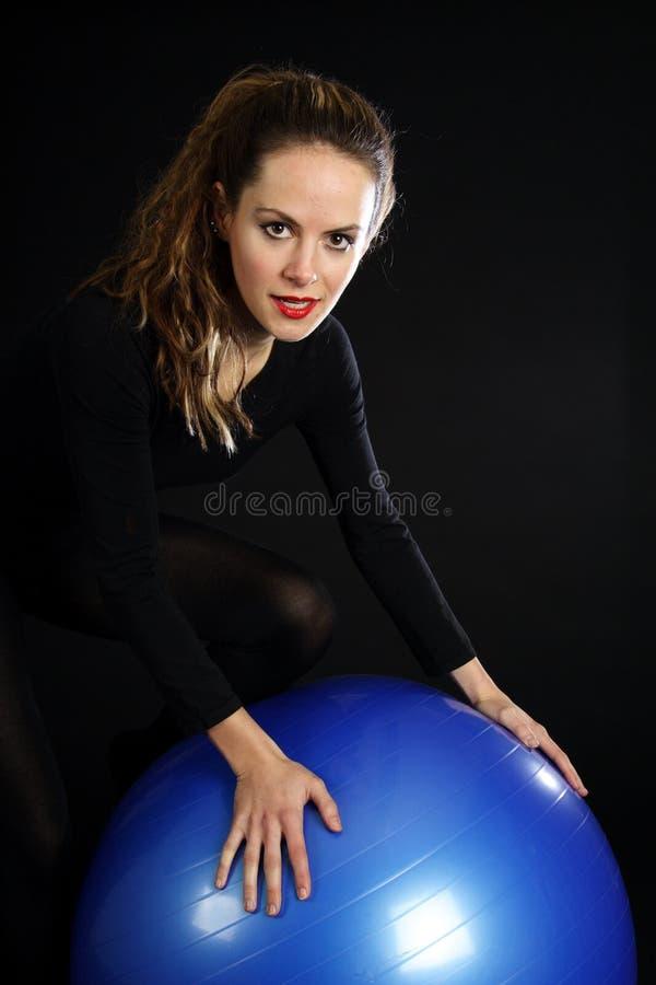 niebieska kula fotografia stock