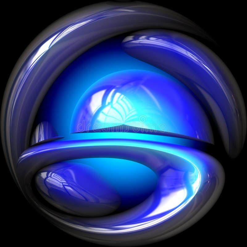 niebieska kula crystal świecić royalty ilustracja
