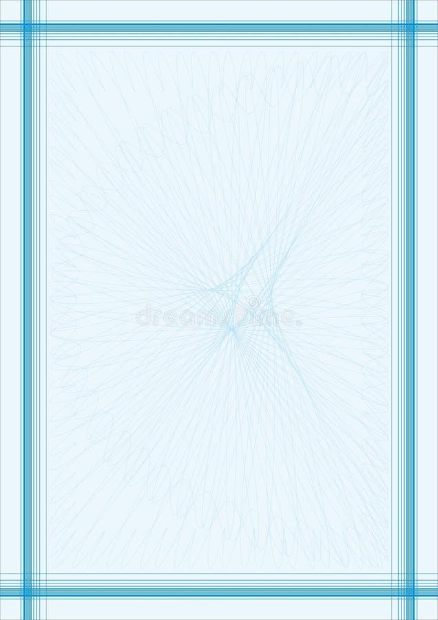 niebieska linia bezpieczna ramowego royalty ilustracja