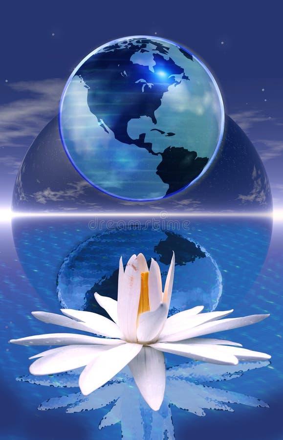 niebieska medytacji planety ilustracja wektor
