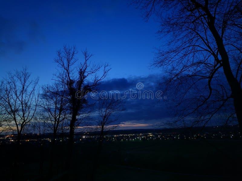 niebieska noc zdjęcia royalty free
