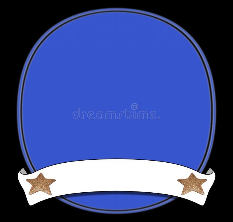 niebieska płytki zwoju ilustracji