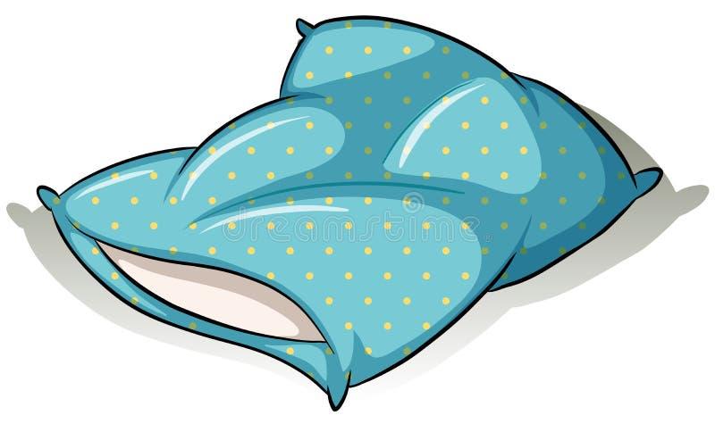 niebieska poduszki royalty ilustracja