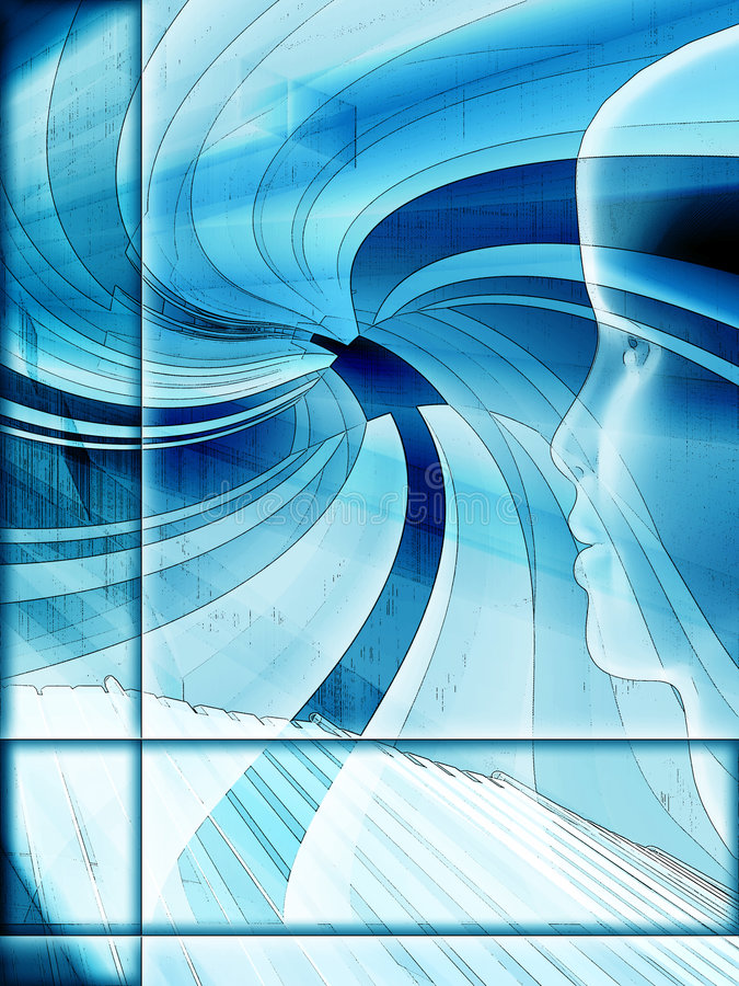niebieska projektu grunge ilustracji technika royalty ilustracja