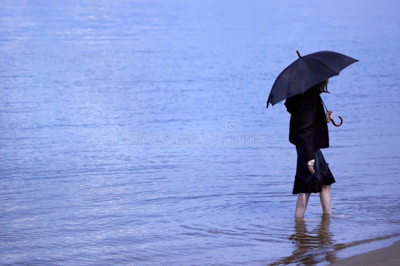 niebieska samotności zdjęcia stock
