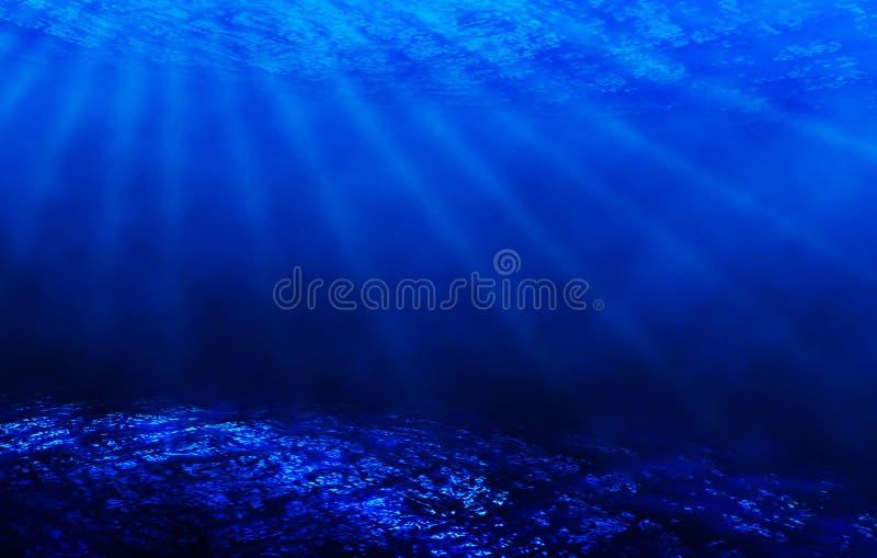 niebieska scena podwodna ilustracja wektor