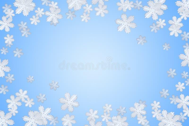 niebieska snowfiake zima zdjęcie royalty free