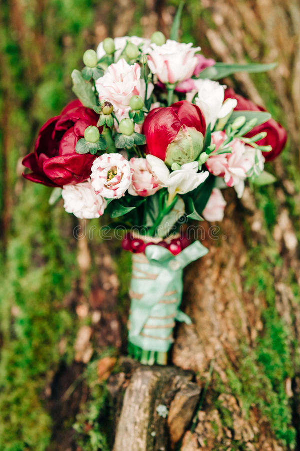niebieska szczegółów kwiat podwiązka gotham jest zatruty ślub obraz stock