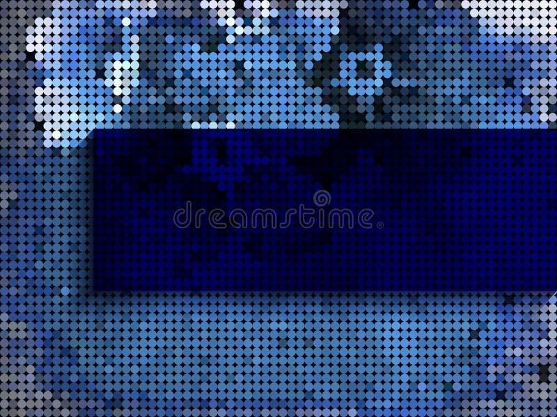 niebieska tła ciemnej nieskończoności ilustracji