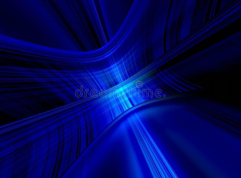 niebieska tła ciemnej sieci royalty ilustracja