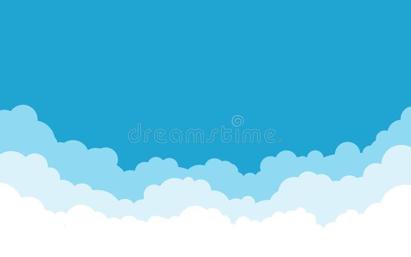 niebieska t?a rana chmury strza?u niebo bia?e Kresk?wki mieszkania stylu projekt r?wnie? zwr?ci? corel ilustracji wektora ilustracja wektor