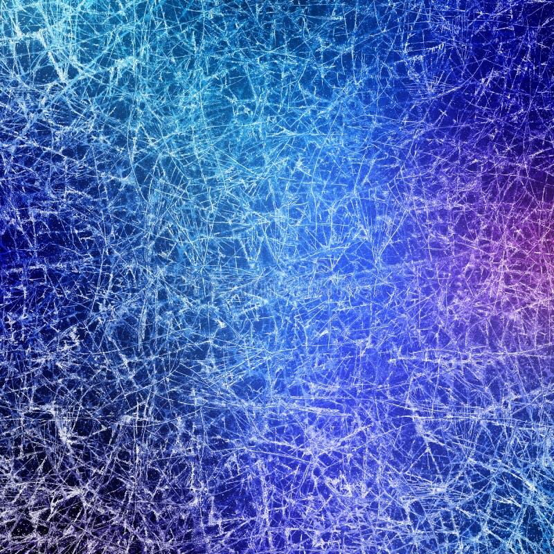 Niebieska tekstura lodowa fotografia stock