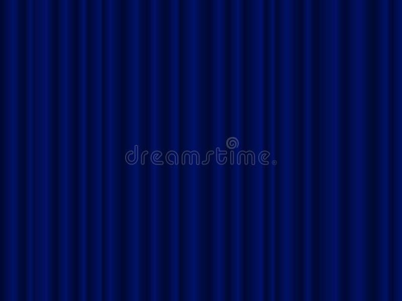 niebieska zasłona ilustracji