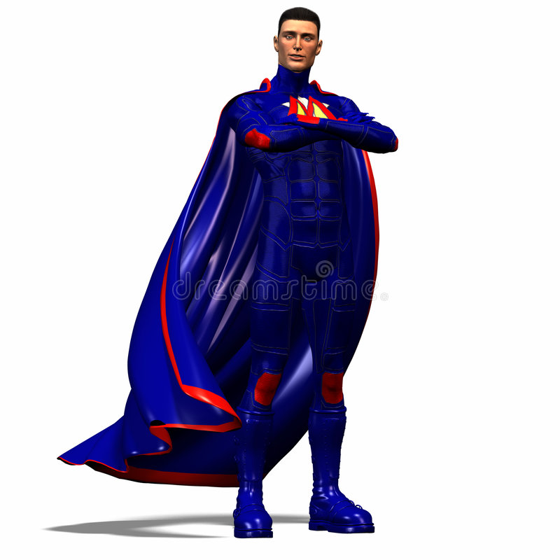 niebieski 1 super bohater royalty ilustracja