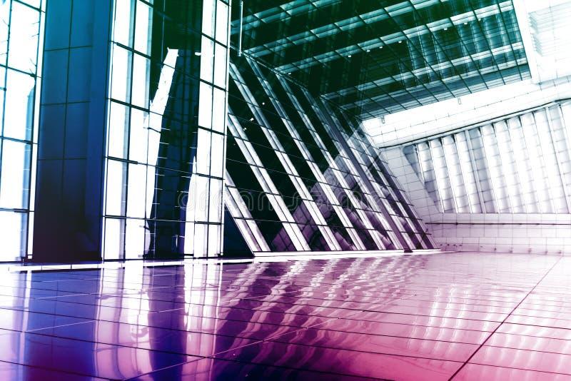 niebieski abstrakcjonistycznego budynku nowoczesnych purpurowy royalty ilustracja