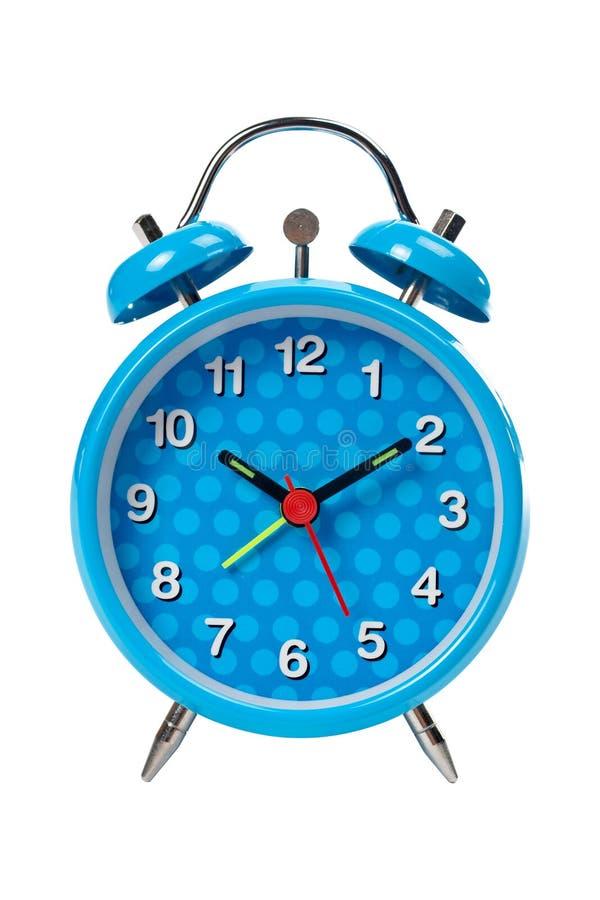 niebieski alarmowego zegar obrazy stock