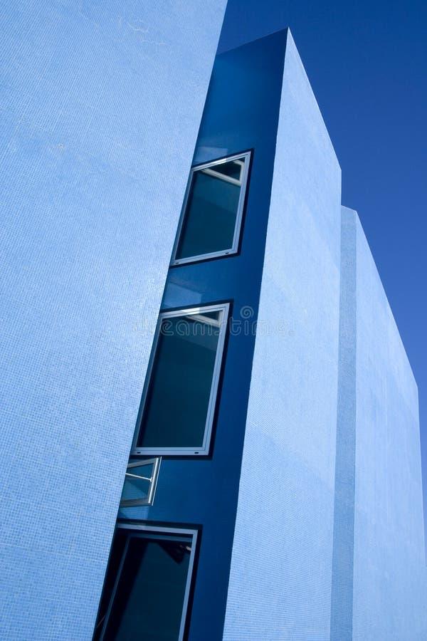 niebieski architektury nowoczesny budynek fotografia royalty free