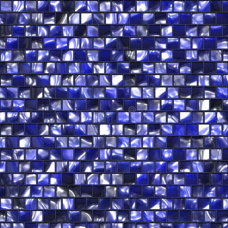 niebieski barwiąca wzór płytka ilustracja wektor