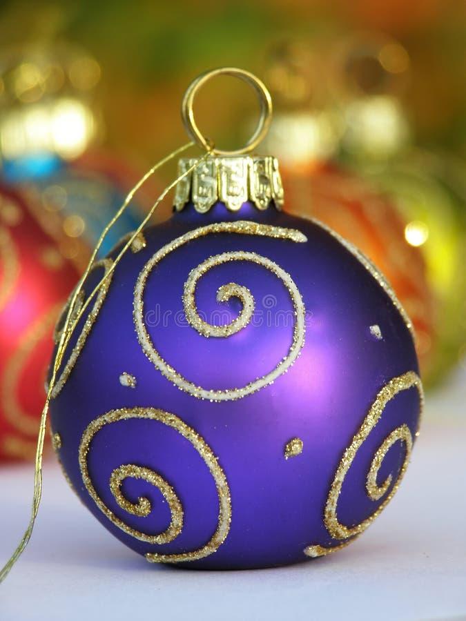 niebieski bauble Świąt zdjęcie royalty free