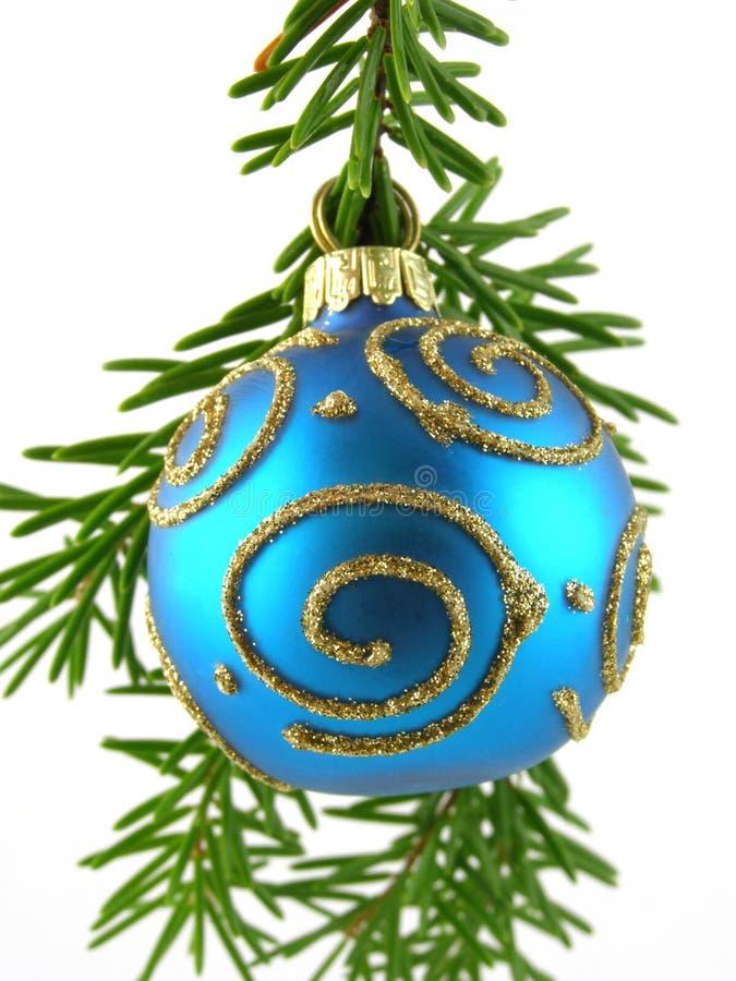niebieski bauble Świąt obraz royalty free