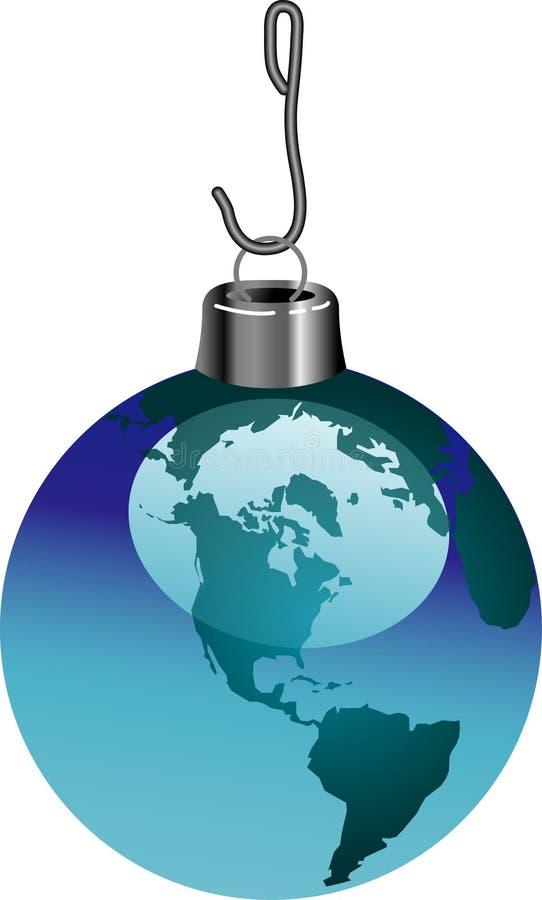 niebieski bauble świat ilustracja wektor