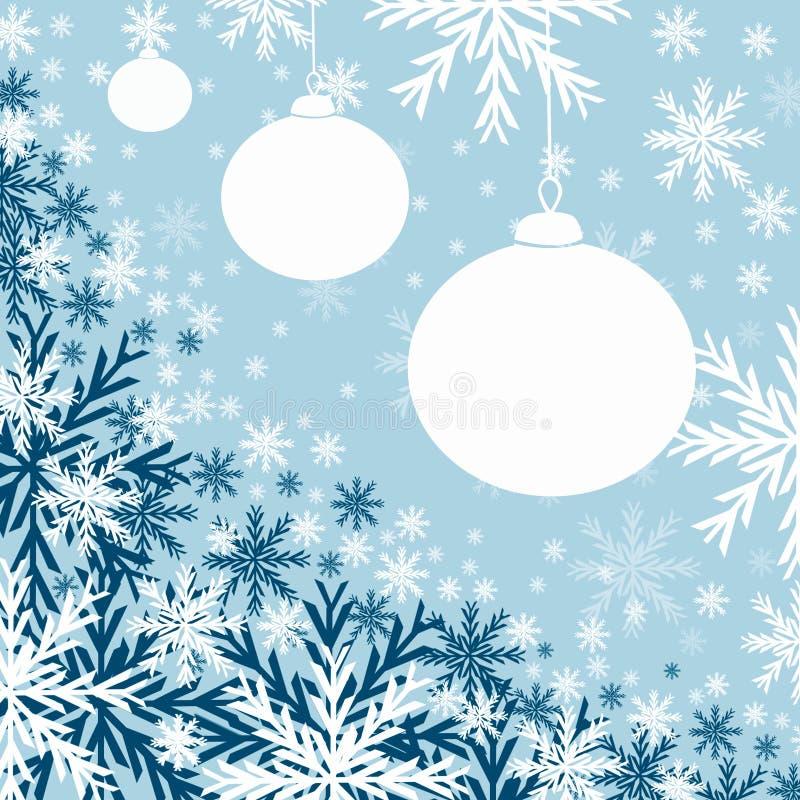 niebieski baubles Świąt ilustracja wektor