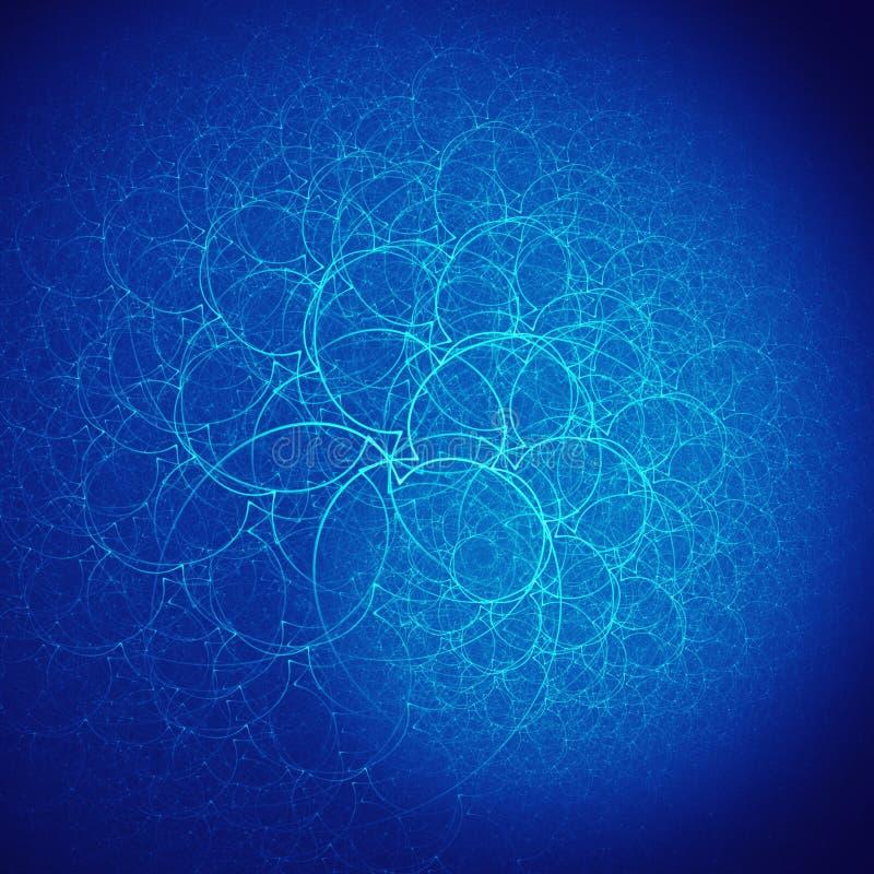niebieski branchs gniazdo royalty ilustracja