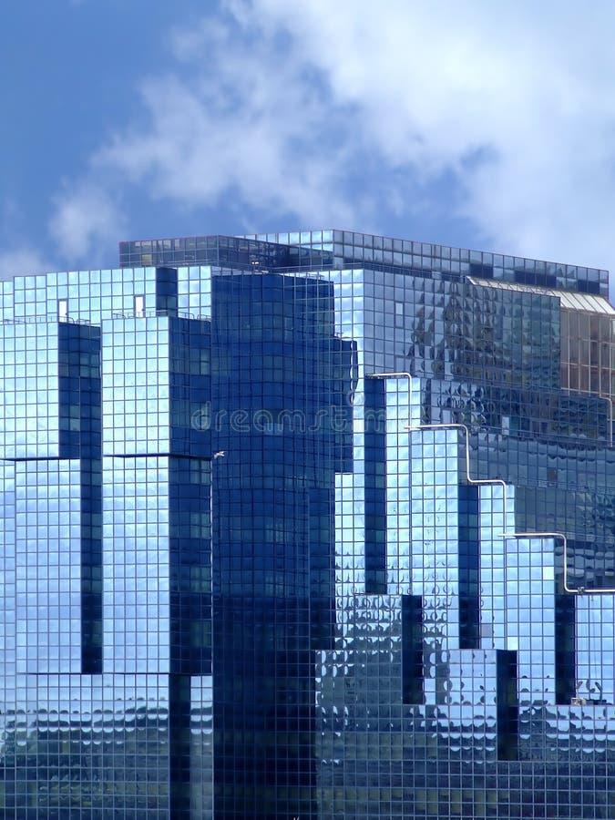 niebieski buduje szkła zdjęcie royalty free