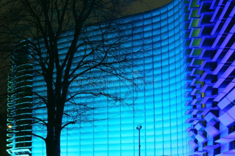 niebieski budynek fotografia royalty free